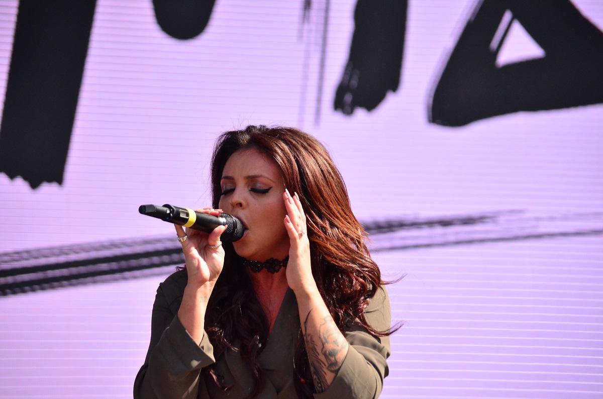 Jesy Nelson of Little Mix at Billboard Hot 100 Music Festival 2015