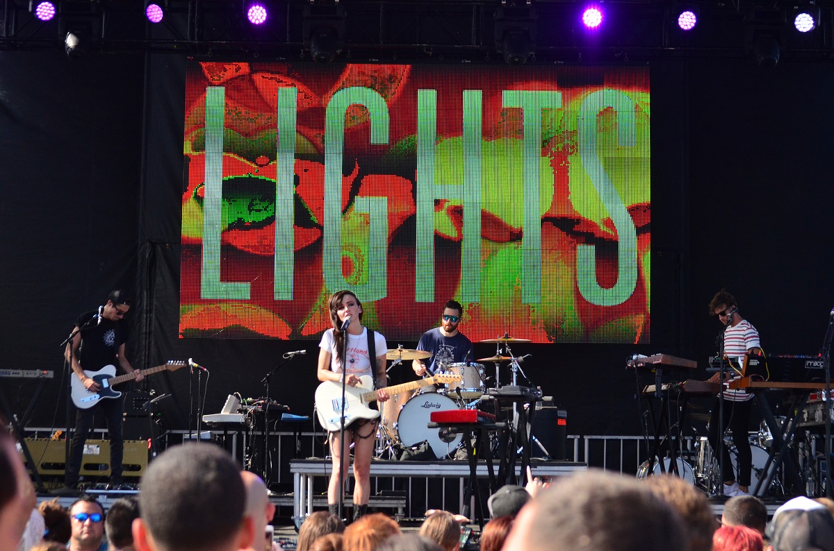 Lights at Billboard Hot 100 Music Festival 2015