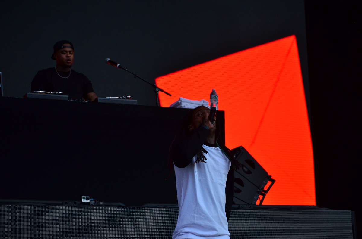 Lil Wayne at Billboard Hot 100 Music Festival 2015