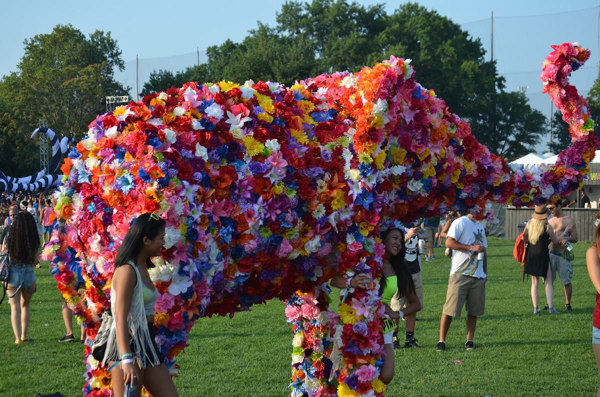 Electric Zoo 2015 Flower Elephant