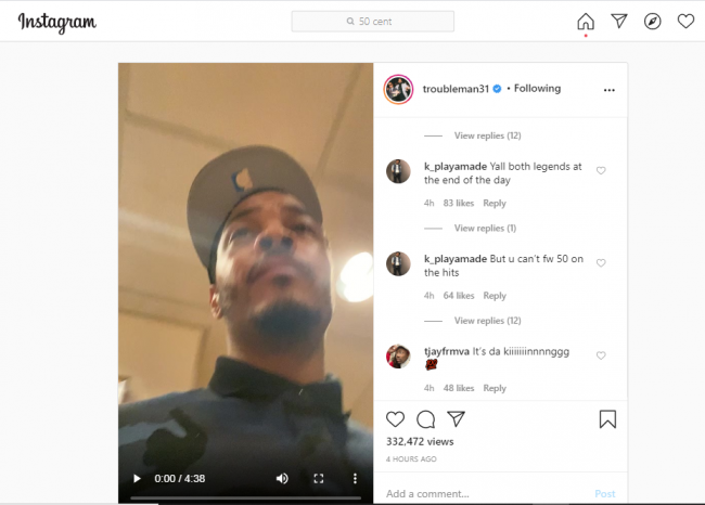 """50 Cent answered a clapsback to T.I's challenge """"Verzuz Battle"""""""