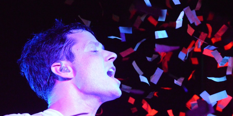 OK Go singer Damian Kulash performs at Mercy Lounge in Nashville, Tenn., on Oct. 17, 2014.