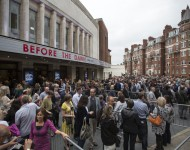 Crowd waits in line for sold-out Kate Bush show in London