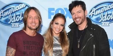 'American Idol' judges Keith Urban, Jennifer Lopez & Harry Connick Jr.