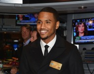 Trey Songz visits the NYSE Closing Bell at New York Stock Exchange on November 13, 2014