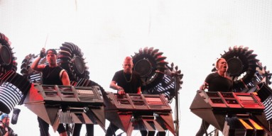 The Glitch Mob perform onstage at Coachella 2014