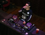 Skrillex performs Private Concert for SiriusXM listeners at The Slipper Room in New York City