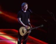 Ed Sheeran performs at the 2015 BRITs