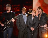 Jon Bon Jovi, Al Roker, Triumph the Insult Comic Dog, Gilbert Gottfried and Will Forte (from left to right).