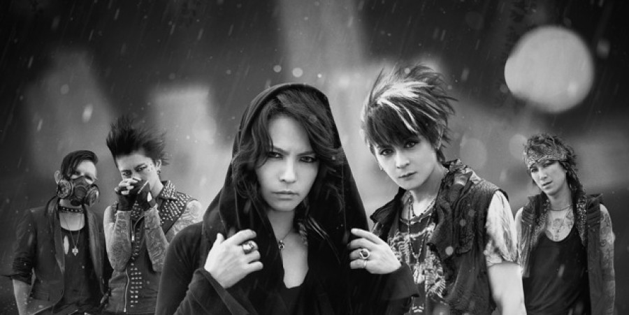 Vamps (Hyde front and center, and K.A.Z. to his immediate right)