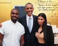 President Barack Obama Poses With Kanye West & Kim Kardashian