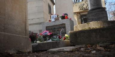 Jim Morrison's grave in Paris.