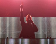 Calvin Harris performs onstage during 93.3 FLZ's Jingle Ball 2014 at Amalie Arena on December 22, 2014 in Tampa, Florida.