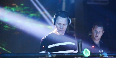 Tiësto performs at the Global Citizen Festival official after party at Space Ibiza NY on September 27, 2014