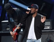 Kendrick Lamar performs onstage during the 2014 iHeartRadio Music Awards