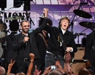 Ringo Starr and Paul McCartney at the Rock and Roll Hall of Fame