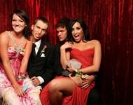 Demi Lovato (far right) and friends at the big dance.