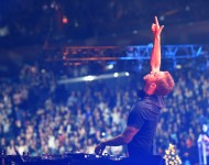 Calvin Harris performs onstage during iHeartRadio Jingle Ball 2014 at Madison Square Garden