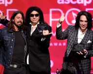 Dave Grohl, Gene Simmons and Paul Stanley at the ASCAP Pop Music Awards