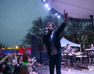 Michael Angelakos of Passion Pit performs at the Spotify House at SXSW 2015