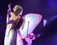 Miley Cyrus performs in NYC at Terminal 5