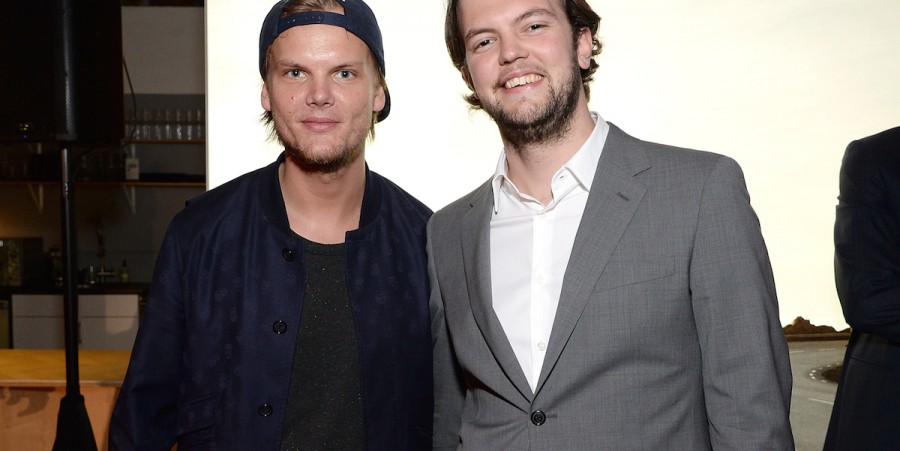 Avicii (L) and At Night Management's Carl Vernersson attend Volvo Cars and Avicii Feeling Good About The Future on May 7, 2015 in Los Angeles, California