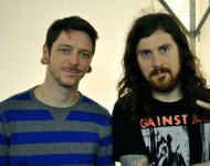 David Williams (left) and Jeremy DePoyster of The Devil Wears Prada.