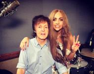 Paul McCartney and Lady Gaga In Studio (February 2015)