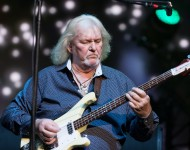 Chris Squire and his iconic Rickenbacker bass.