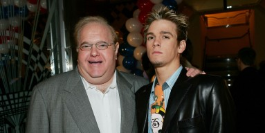 Lou Pearlman and Aaron Carter