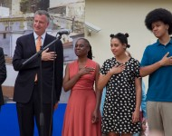 Bill de Blasio and his touring band/family.