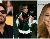 Lenny Kravitz, Janet Jackson and Mariah Carey