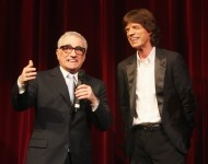 Martin Scorsese (left) and Mick Jagger