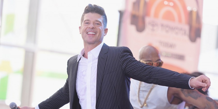 Robin Thicke performs on 'TODAY', July 2015