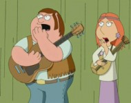Family Guy, rocking out.