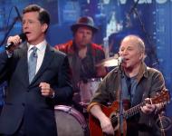 Stephen Colbert and Paul Simon
