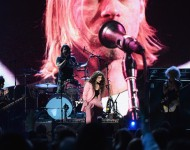 Musicians Joan Jett, Dave Grohl of Nirvana, Lorde and St. Vincent perform onstage at the 29th Annual Rock And Roll Hall Of Fame Induction Ceremony at Barclays Center of Brooklyn