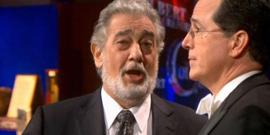 He May Not Sing Opera, But When He Does: Stephen Colbert the 1983 Opera Star Invites Singing Legend Plácido Domingo on 'The Report'