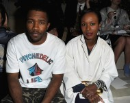 Frank Ocean and Shala Monroque at Paris Fashion Week on March 5, 2013