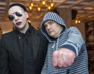Marilyn Manson and Billy Corgan attend SiriusXM's Town Hall