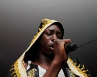 Rapper Le1f performs at the Brooklyn Museum's 4th annual Brooklyn Artists Ball on April 16, 2014 in the Brooklyn borough of New York City.