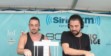 Dimitri Vegas and Like Mike perform atThe SiriusXM Music Lounge on March 26, 2015
