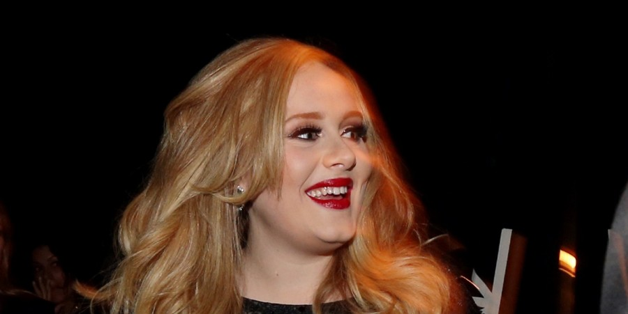 Singer Adele Adkins, winner of the award for Achievement in Music Written for Motion Picture- Original Song, backstage during the Oscars held at the Dolby Theatre on February 24, 2013 in Hollywood, California.