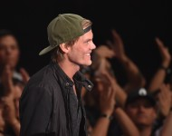 Avicii onstage during the 2014 iHeartRadio Music Awards