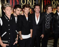 One Direction and Simon Cowell in 2013