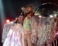 Wayne Coyne of The Flaming Lips performs at CBGB Festival Presents Amnesty International Concert