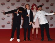 Jilionnaire, Diplo and Walshy Fire from Major Lazer attend the 17th NRJ Music Awards