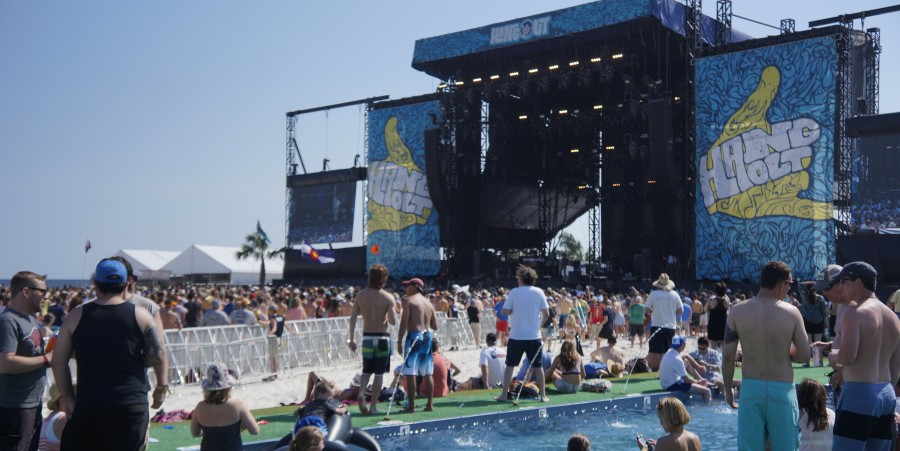 Hangout Festival 2014 view from VIP booth
