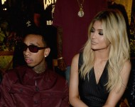 Tyga (L) and Kylie Jenner attend the Opening Ceremony Spring 2016 fashion show during New York Fashion Week at 25 Wall Street