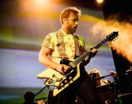 Dan Auerbach of the American Garage Rock Band, The Arcs, on stage as he performs during their live concert at Alcatraz.